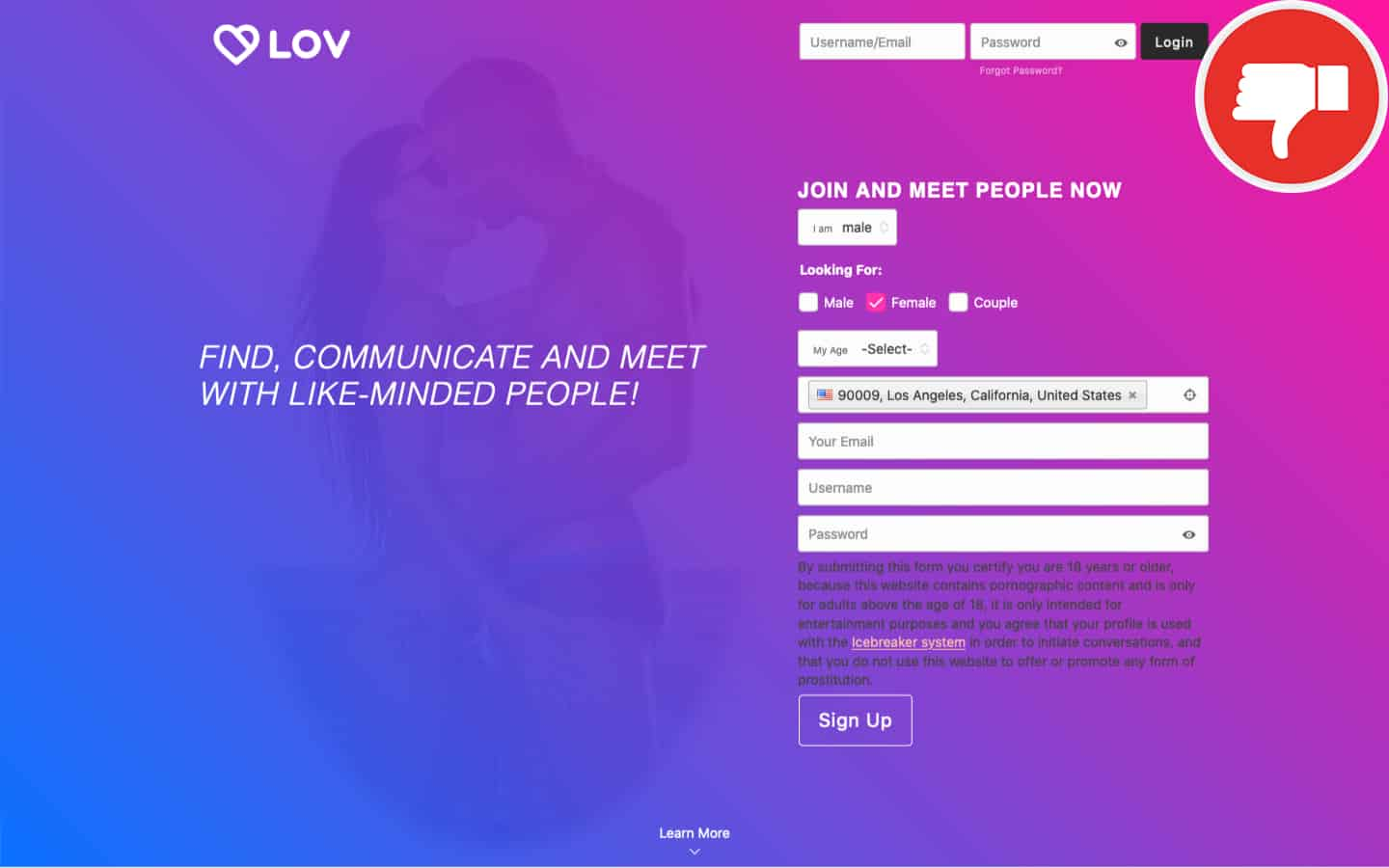 Review Lov.Dating scam